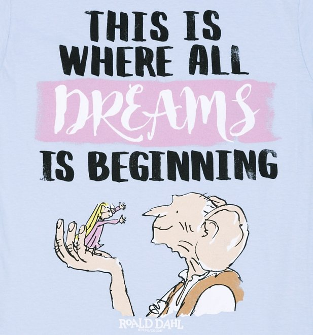 Women's BFG Dreams is Beginning Light Blue T-Shirt