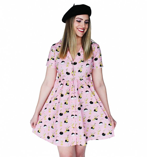 Women's Beauty And The Beast Lumiere And Plumette Bowler Dress from Cakeworthy