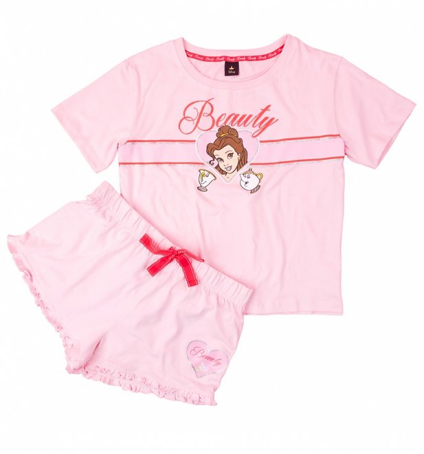 Women's Beauty And The Beast Shortie Pyjama Set