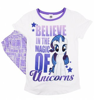 Women's Believe In The Magic Of Unicorns Rarity My Little Pony Pyjamas