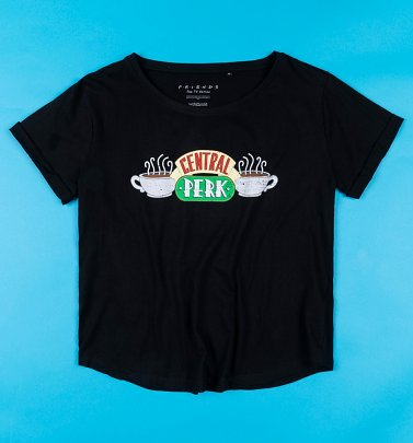 Women's Black Central Perk Friends T-Shirt