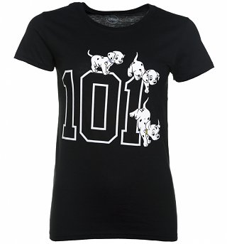 Women's Black Disney 101 Dalmatians T-Shirt