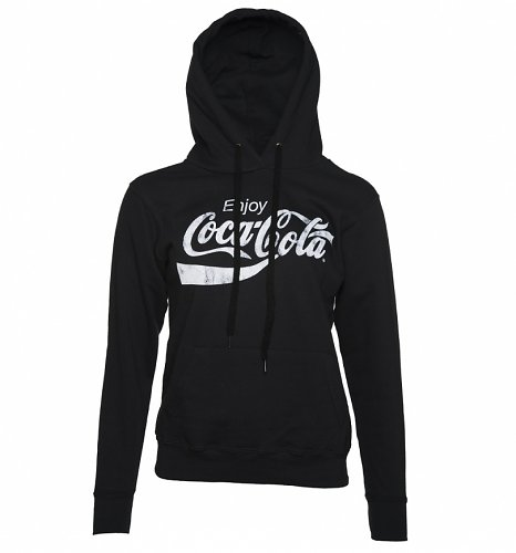 Women's Black Enjoy Coca-Cola Hoodie