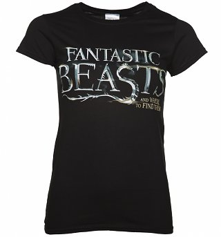 Women's Black Fantastic Beasts And Where To Find Them Logo T-Shirt