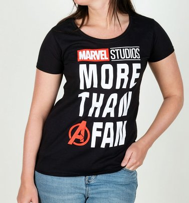 Women's Black Marvel Comics More Than A Fan T-Shirt