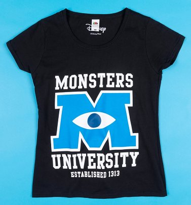 Women's Black Monsters University T-Shirt