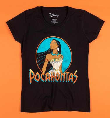 Women's Black Pocahontas Fitted T-Shirt