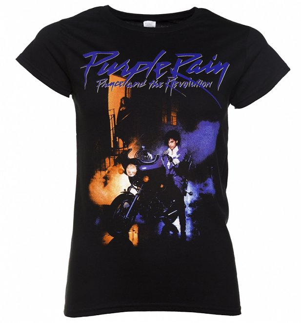 Women's Black Prince Purple Rain T-Shirt