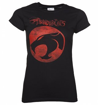 Women's Black ThunderCats Logo T-Shirt