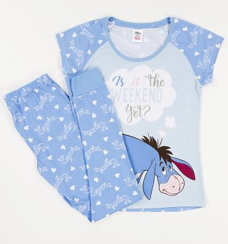 Women's Blue Eeyore Is It The Weekend Yet? Pyjamas