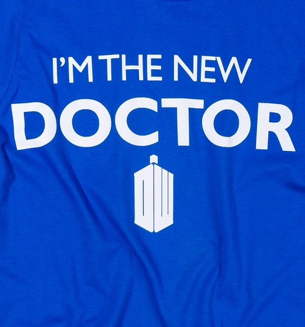 Women's Blue I'm The New Doctor Who T-Shirt