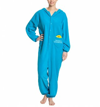 Women's Blue Sesame Street Cookie Monster Onesie