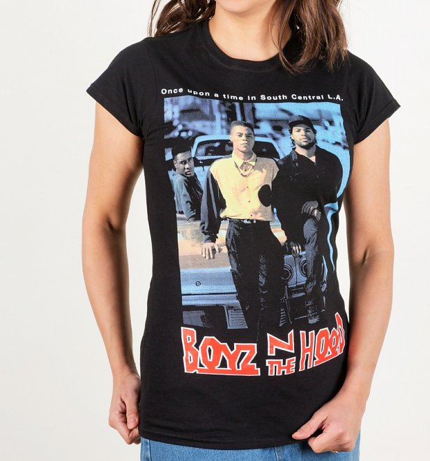Women's Boyz N The Hood Black Fitted T-Shirt