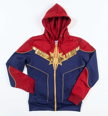 Women's Captain Marvel Zip Up Hoodie
