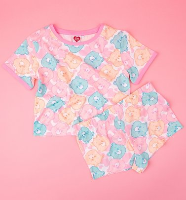 Women's Care Bears All Over Print Shortie Pyjamas Set