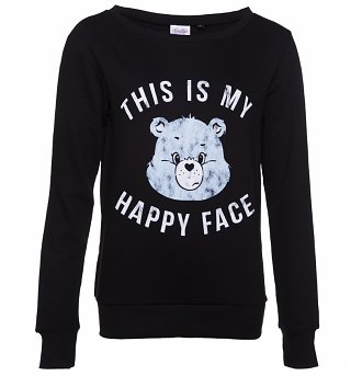 Women's Care Bears Grumpy Bear This Is My Happy Face Sweater