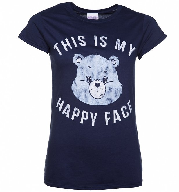 Women's Care Bears Grumpy Bear This Is My Happy Face T-Shirt