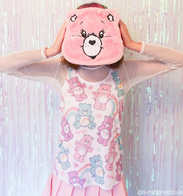 Women's Care Bears Retro Pattern All Over Print Vest