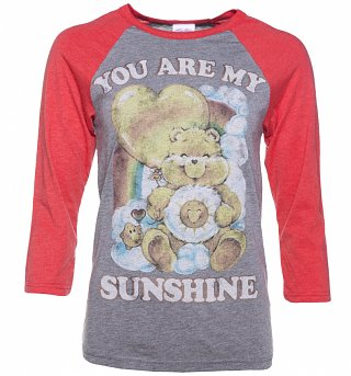 Women's Care Bears You Are My Sunshine Baseball T-Shirt