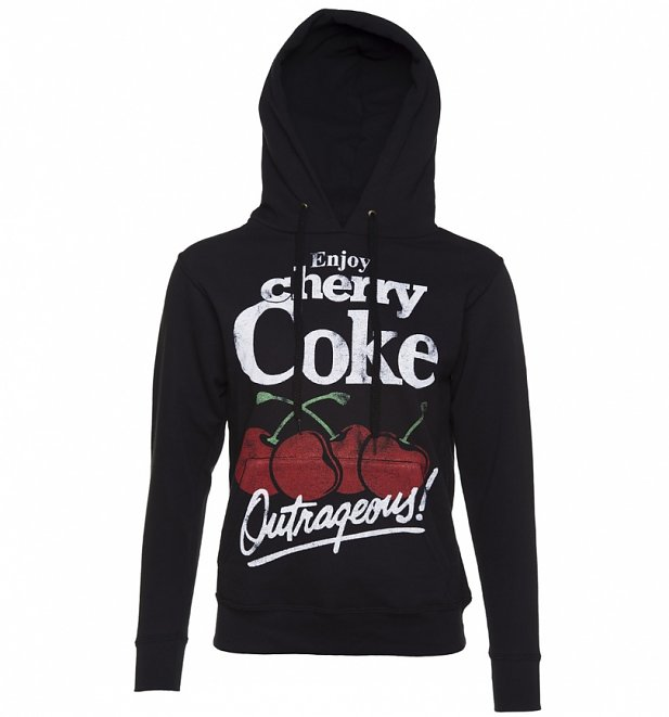 Women's Charcoal Enjoy Cherry Coke Hoodie