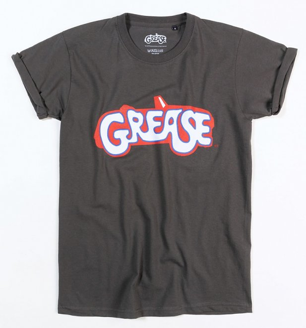 Women's Charcoal Grease Logo Boyfriend T-Shirt