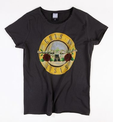Women's Charcoal Guns N Roses Bullet T-Shirt from Amplified
