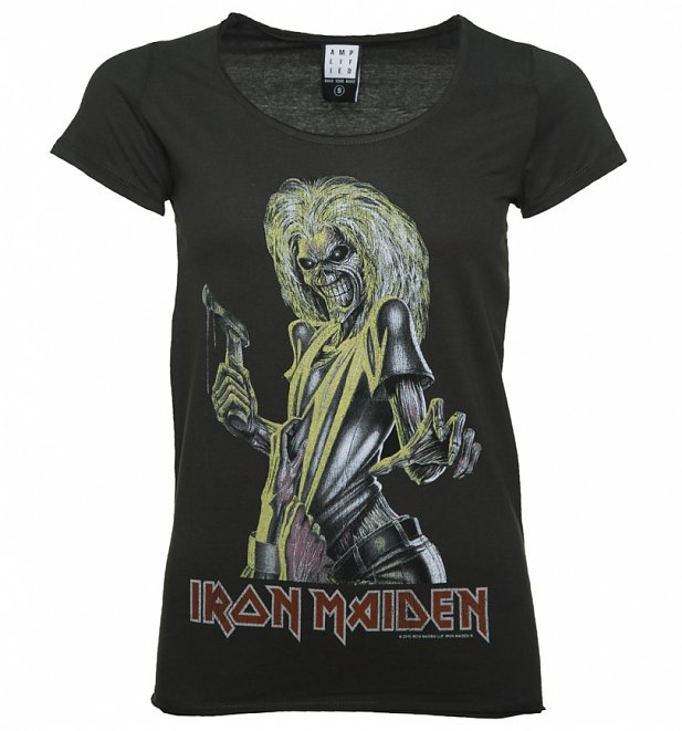 Women's Charcoal Iron Maiden Killers T-Shirt from Amplified