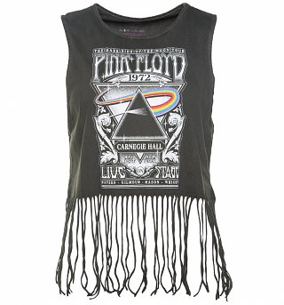Women's Charcoal Pink Floyd Carnegie Hall Vest With Tassels