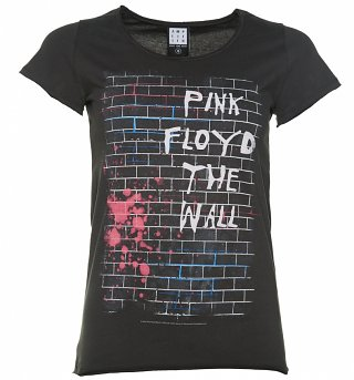 Women's Charcoal Pink Floyd The Wall T-Shirt from Amplified