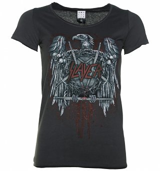 Women's Charcoal Slayer Metal Eagle T-Shirt from Amplified