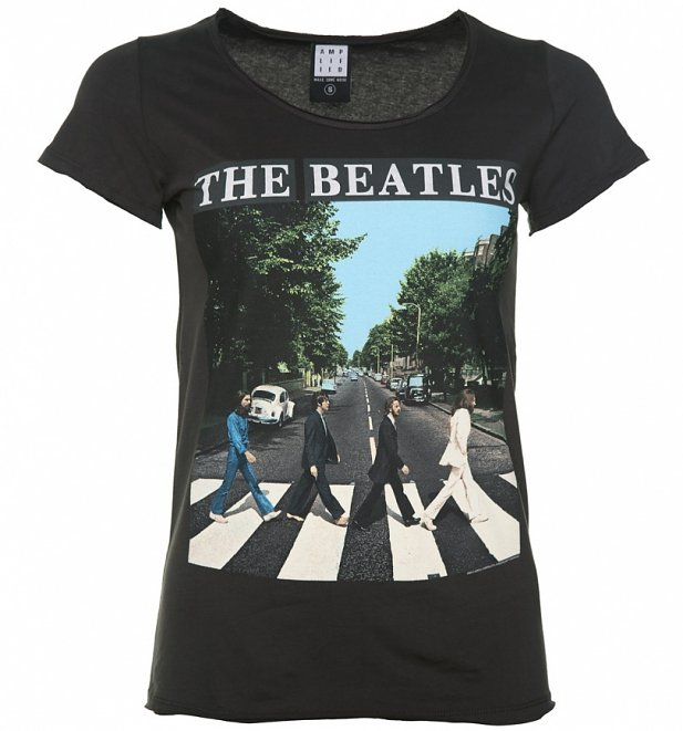 Women's Charcoal The Beatles Abbey Road T-Shirt from Amplified