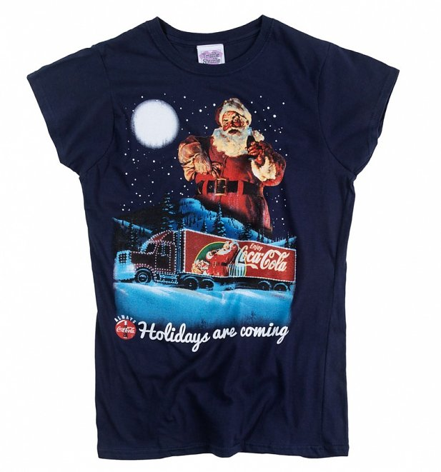 Women's Coca-Cola Holidays Are Coming Fitted Christmas T-Shirt