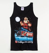 Women's Coca-Cola Holidays Are Coming Christmas Fitted Vest
