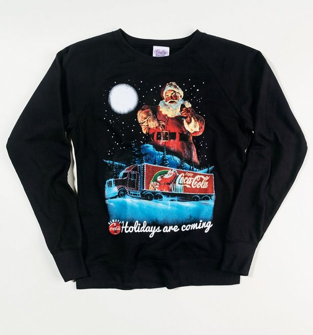 Coca-Cola Holidays Are Coming Lightweight Christmas Jumper
