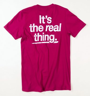 Women's Coca-Cola It's The Real Thing Berry T-Shirt