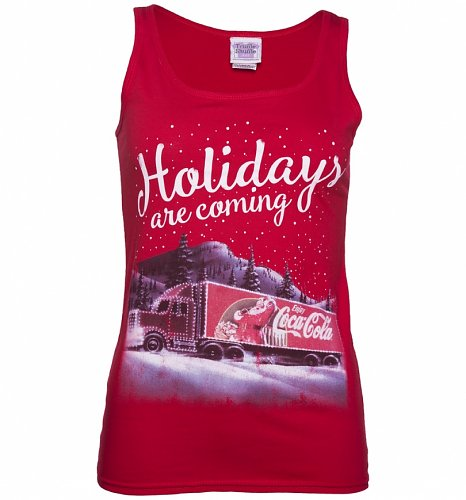 Women's Coca-Cola Truck Holidays Are Coming Vest