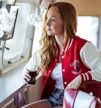 Women's Coca-Cola University Varsity Jacket