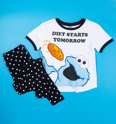 Women's Cookie Monster Diet Starts Tomorrow Pyjama Set