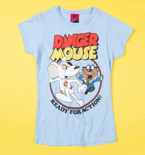 Women's Danger Mouse Ready For Action Fitted T-Shirt