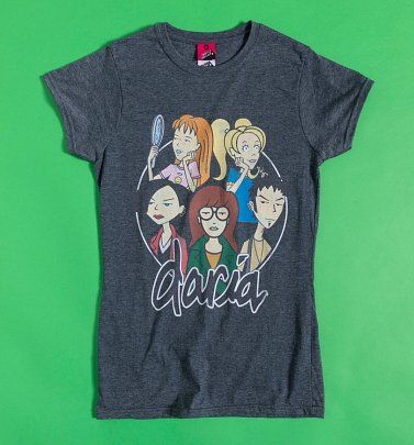 Women's Daria Group Charcoal Marl Fitted T-Shirt