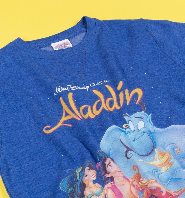 Women's Disney Aladdin Video Cover Marl Sweater