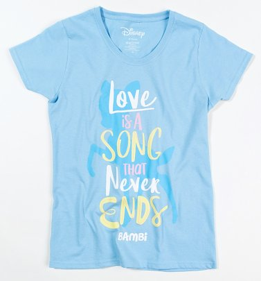 Women's Disney Bambi Love Is A Song T-Shirt
