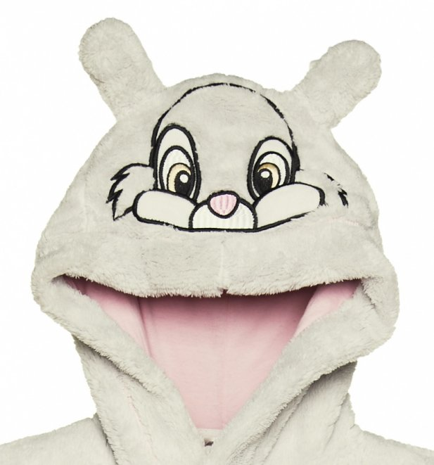 Women's Disney Bambi Thumper Dressing Gown With Hood And Ears