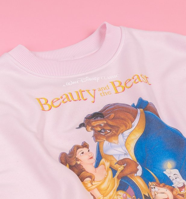Women's Disney Beauty And The Beast Video Cover Cropped Sweater