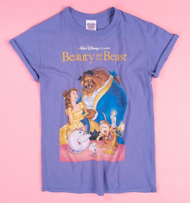 Women's Disney Beauty And The Beast Video Cover Boyfriend T-Shirt