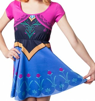 Women's Disney Frozen Anna Costume Skater Dress