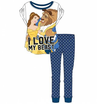 Women's Disney I Love My Beast Beauty And The Beast Pyjamas
