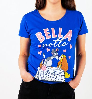 Women's Disney Lady And The Tramp Bella Notte T-Shirt