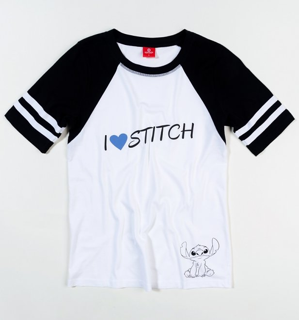 Women's Disney Lilo And Stitch I Love Stitch Baseball T-Shirt