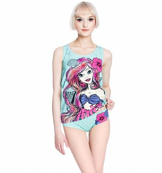 Women's Disney Little Mermaid Vest And Briefs Set